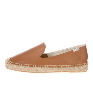 NEW Soludos Espadrille Smoking Flats 8 Brown Shoes